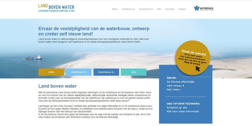 Podium wint Europese onderwijsprijs voor Landbovenwater.nl